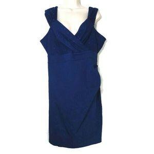 Torrid Polka Dot Mesh V-neck Empire Waist Dress